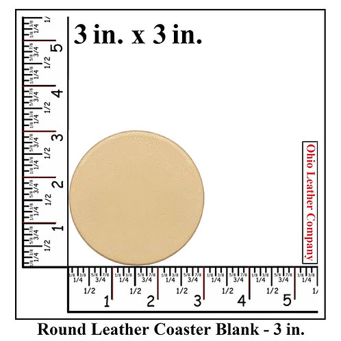 3 in. Round Leather Coaster Blanks