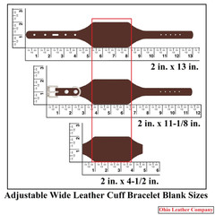 Adjustable Leather Cuff Bracelets with Buckle - Sizes - OhioLeatherCompany.com -1