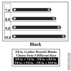 5/8 in. Leather Bracelet Blanks - Black - OhioLeatherCompany.com
