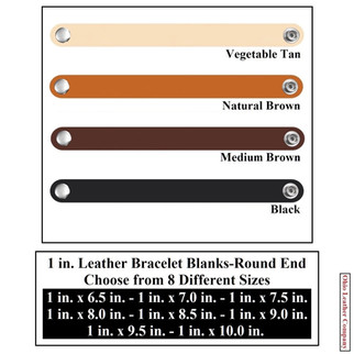 1 in. Leather Bracelet Blanks - 4 Color MultiPack - OhioLeatherCompany.com