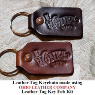 Leather Tag Keychain - OhioLeatherCompany.com -03
