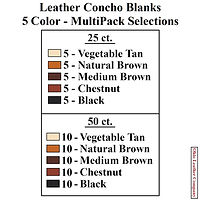 Leather Concho Blank 5 Color MultiPack Selections - Ohio Leather Company
