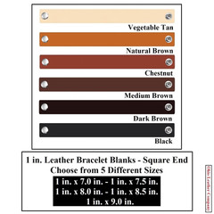 1 in. Leather Bracelet Blanks - Square End - OhioLeatherCompany.com -2