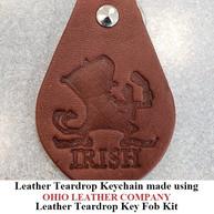 Leather Teardrop Keychain - OhioLeatherCompany.com -14