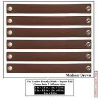 1 in.-Square End Leather Bracelet Blanks - OhioLeatherCompany.com - Choose from 5 Assorted lengths