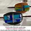 Oval Leather Barrette Blank with Decorative Stick - Ohio Leather Company
