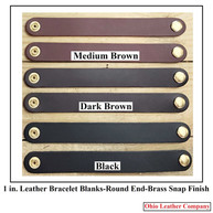 1 in.-Round End Leather Bracelet Blanks - OhioLeatherCompany.com - Choose from 8 Assorted lengths -07
