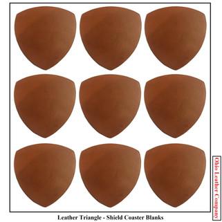 Leather Triangle Coaster Blanks - OhioLeatherCompany.com -1