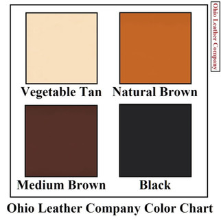 Color Chart Selection for Ohio Leather Company- OhioLeatherCompany.com