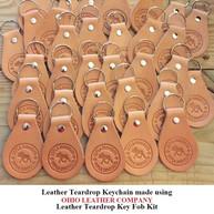 Leather Teardrop Keychain - OhioLeatherCompany.com -01