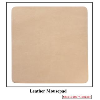 Leather Mousepad - Color Vegetable Tan - OhioLeatherCompany.com