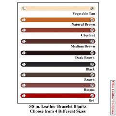 5/8 in. Leather Bracelet Blanks - OhioLeatherCompany.com -3
