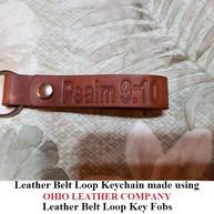 Leather Belt Loop Keychain Key Fob Blank - OhioLeatherCompany.com -03