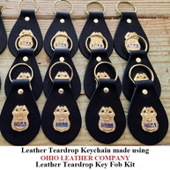 Leather Teardrop Keychain - OhioLeatherCompany.com -02