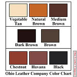 Color Chart Selection for Ohio Leather Company