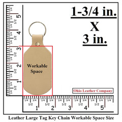Leather Large Tag Keychain Workable Space Size - OhioLeatherCompany.com