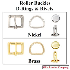 Accessory Selection - Roller Buckles, D-Rings & Rivets - OhioLeatherCompany.com