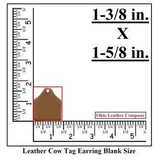 Leather Cow Tag Earring Blank Size - Leather  Cattle Tag Blank Size - OhioLeatherCompany.com