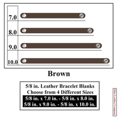 5/8 in. Leather Bracelet Blanks - Brown - OhioLeatherCompany.com