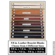 5-8 in. Leather Bracelet Blanks - OhioLeatherCompany.com - Choose from 4 Assorted lengths
