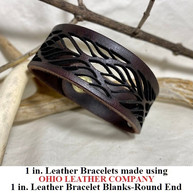 1 in.-Round End Leather Bracelet Blanks - OhioLeatherCompany.com - Choose from 8 Assorted lengths -04