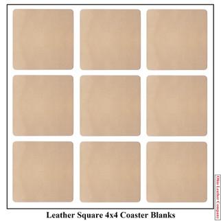 Leather Square 4x4 Coaster Blank  - OhioLeatherCompany.com -2
