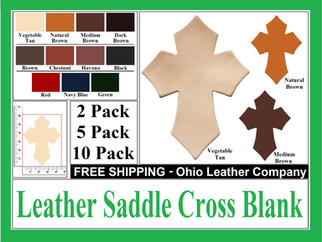 Leather Saddle Cross Blanks for Sale at