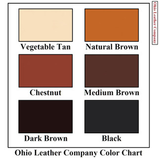 Color Chart Selection for OhioLeatherCompany.com