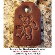 Leather Tag Keychain - OhioLeatherCompany.com -08