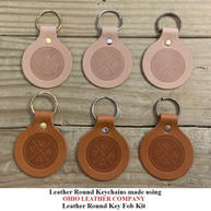 Leather Round Keychain - OhioLeatherCompany.com -05