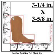 Leather Boot Keychain -Boot Shaped Keychain - OhioLeatherCompany.com