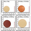Leather Round Coaster Blank Sizes - 3 Sizes to choose from 3-1-4 in. - 3-5-8 in. - 4-1-8 i