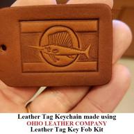 Leather Tag Keychain - OhioLeatherCompany.com -07