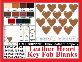 Leather Heart Key Fob Bank - Ohio Leather Company.com