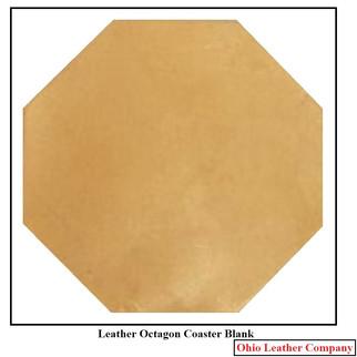 Leather Octagon Coaster Blank - OhioLeatherCompany.com -1