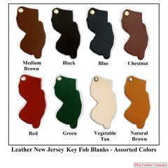 Leather New Jersey Key Fob Blanks -- OhioLeatherCompany.com