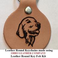 Leather Round Keychain - OhioLeatherCompany.com -09