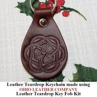 Leather Teardrop Keychain - OhioLeatherCompany.com -10