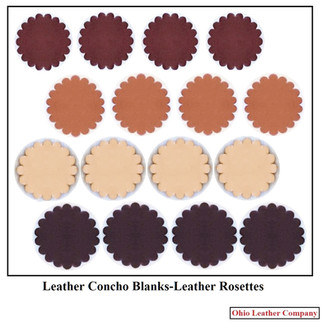 Leather Concho Blanks - Leather Rosette Blanks - OhioLeatherCompany.com