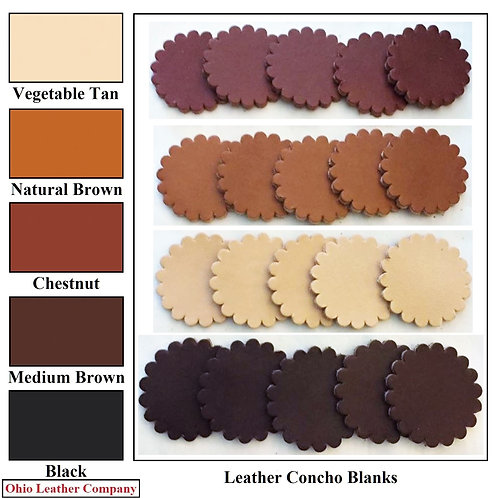 5 Color - MultiPack - Leather Concho Blanks