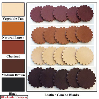 Leather Concho Blanks - 5 Color MultiPack - OhioLeatherCompany.com