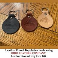 Leather Round Keychain - OhioLeatherCompany.com -06