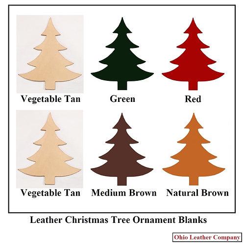 Leather Christmas Tree Ornament Blanks