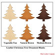 Leather Christmas Tree Ornament Blanks - Assorted Colors - Ohio Leather Company1.jpg