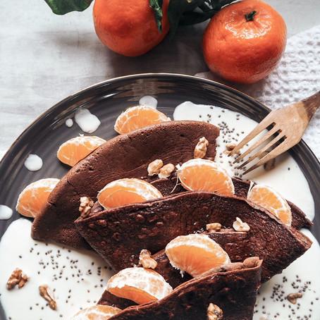 Kakaové palačinky s pomerančovou omáčkou