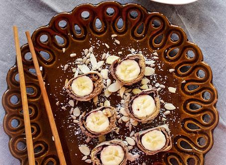 Pancake SUSHI (sladké sushi s ananasovou omáčkou)