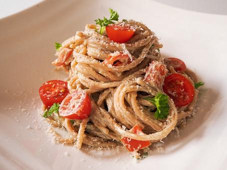 Krémové avokádové špagety