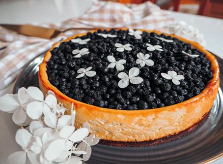 Borůvkový cheesecake (bez lepku)