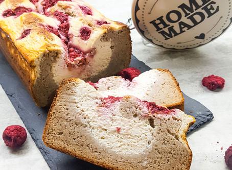 Ricottový chlebíček s malinami