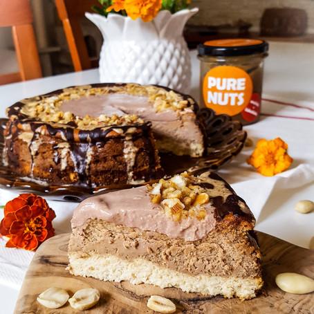 Ořechový cheesecake